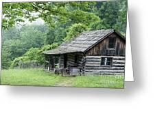 Log Cabin Fort New Salem Greeting Card