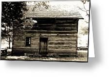 Log Cabin Home Greeting Card by Brenda Donko