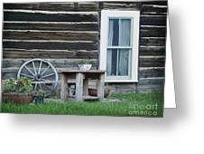 Log Cabin Greeting Card