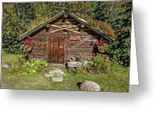 Log Cabin Kantishna, Alaska, Mnt Greeting Card