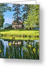 Log Cabin Reflections Greeting Card