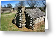 Log Cabins At Valley Forge Greeting Card