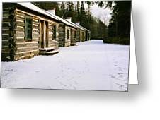 Log Cabins In Fort Wilkins Greeting Card