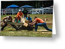 Log Cutting Competition Greeting Card
