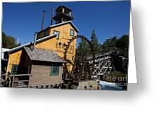 Log Flume Ride Disneyland Greeting Card