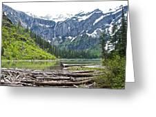 Log Jam In Avalanche Lake In Glacier Np-mt   Greeting Card