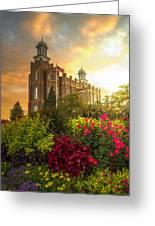 Logan Temple Garden Greeting Card