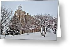 Logan Temple Winter Greeting Card