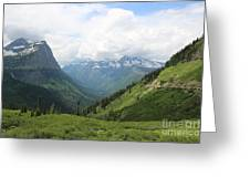 Logan Pass Before The Storm Greeting Card