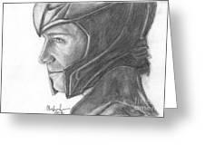 Loki Smirking Greeting Card