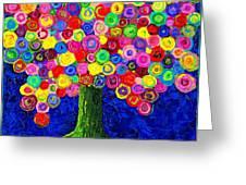 Lollipop Tree 2 Greeting Card