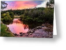 Lolo Hot Springs Creek Greeting Card