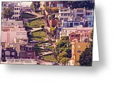 Lombard Street. Greeting Card