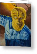 Lon Chaney Jr As Wolfman Greeting Card