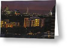 London After Dark Greeting Card