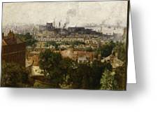 London And The Thames From Greenwich Greeting Card by John Auld