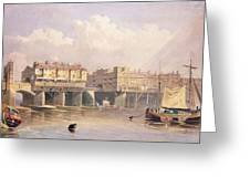 London Bridge, 1835 Greeting Card