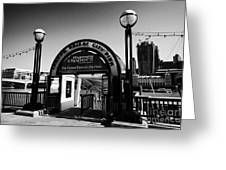 London Bridge City Pier For The Thames Clipper Service England Uk Greeting Card