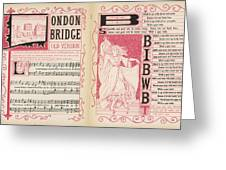 London Bridge Is Broken Down! Dance Greeting Card