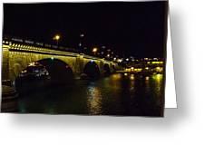 London Bridge Night Greeting Card