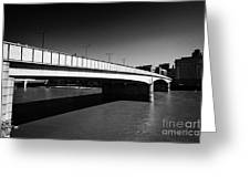 london bridge over the river thames central London England UK Greeting Card