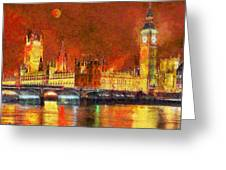 London By Night Greeting Card