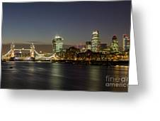 London City And Tower Bridge Greeting Card