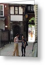 London Couple  Greeting Card