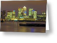 London Docklands Greeting Card by Dawn OConnor