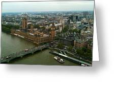 London England From The London Eye Greeting Card
