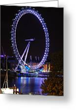 London Eye By Night Greeting Card