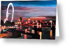 London Eye Night Greeting Card