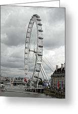 London Eye On The River Thames Greeting Card