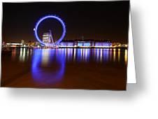 London Eye Reflections Greeting Card