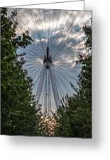 London Eye Vertical Panorama Greeting Card