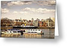 London From Thames River Greeting Card