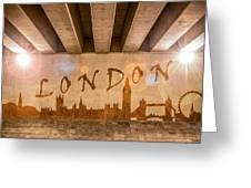 London Graffiti Skyline Greeting Card