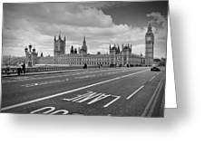 London - Houses Of Parliament  Greeting Card