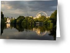 London - Illuminated And Reflected Greeting Card