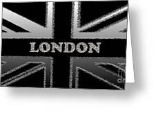 London Modern Union Jack Flag Greeting Card