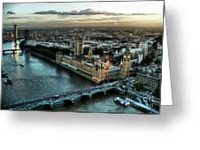 London - Palace Of Westminster Greeting Card