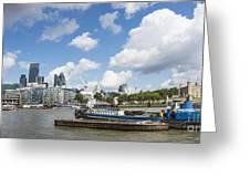 London Panoramic Greeting Card by Donald Davis