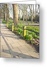 London Park Greeting Card by Tom Gowanlock