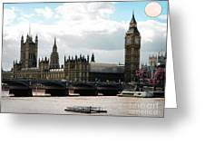 London Parliament Building Greeting Card