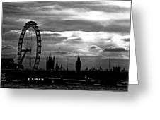 London Silhouette Greeting Card