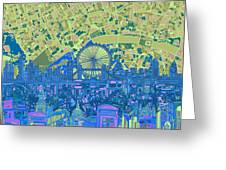 London Skyline Abstract 8 Greeting Card