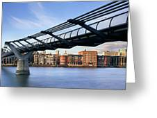 Millennium Bridge London 1 Greeting Card