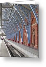 London St Pancras Greeting Card