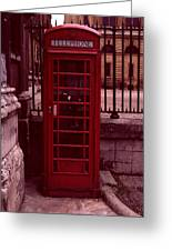 London Telephone Greeting Card