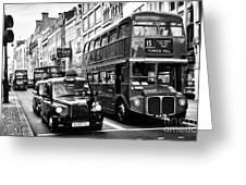 London Traffic Greeting Card